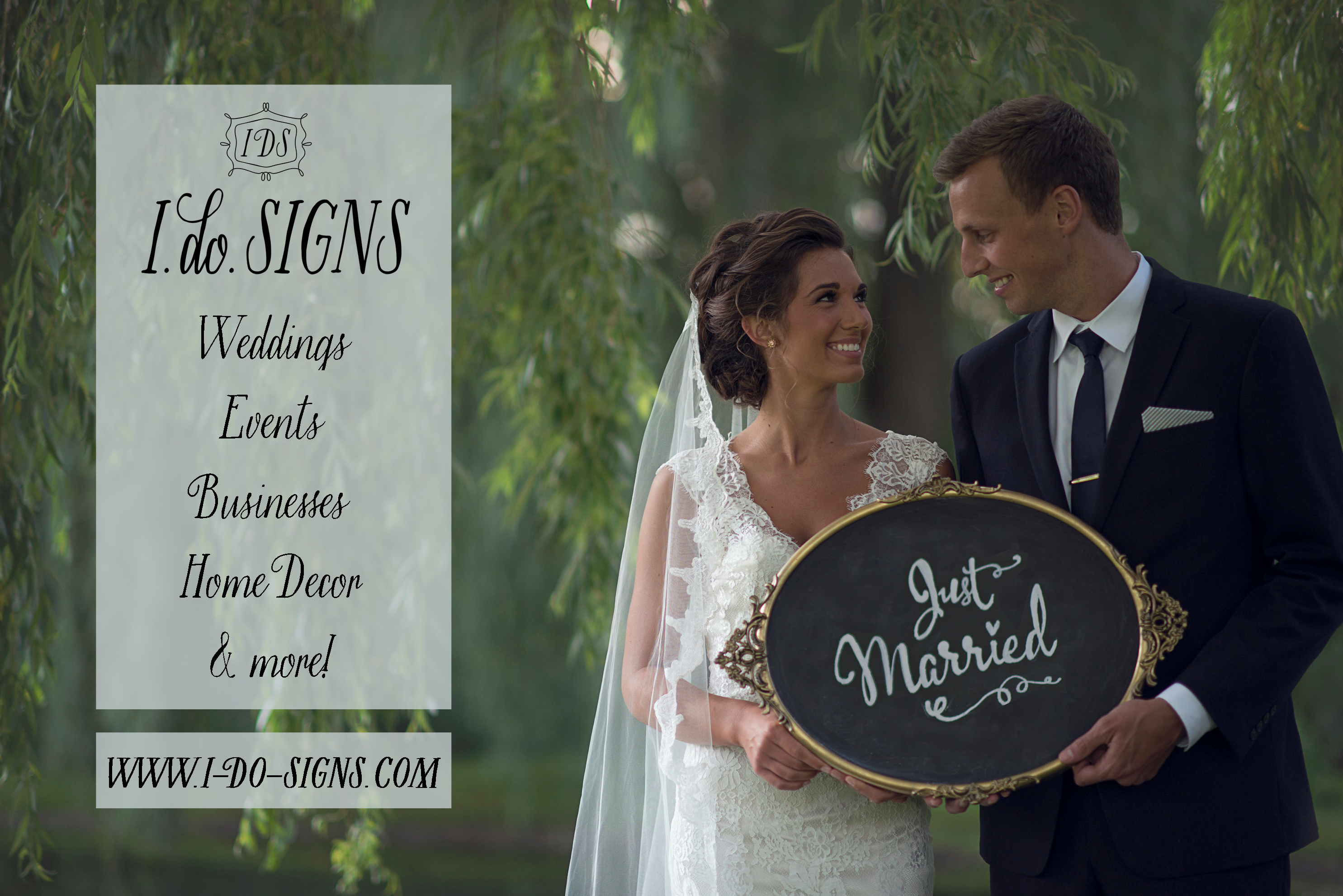 I DO SIGNS: Specializing in custom Wedding & signs and more.  Visit: www.i-do-signs.com