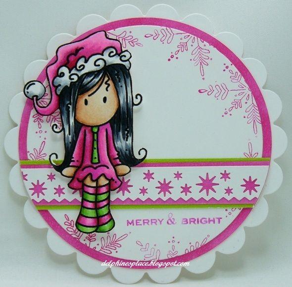 fab pink christmas card