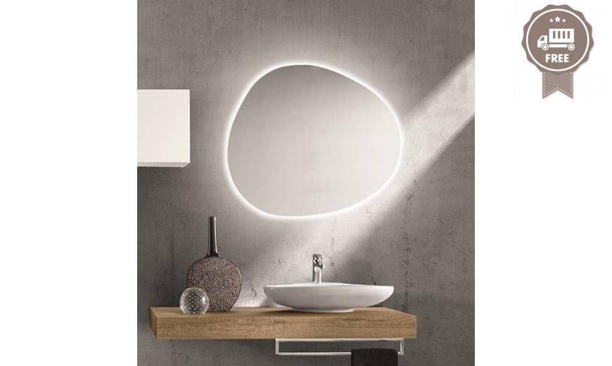 Rcr Eurobagni Sasso Specchio Retroilluminato Specchi Bagno
