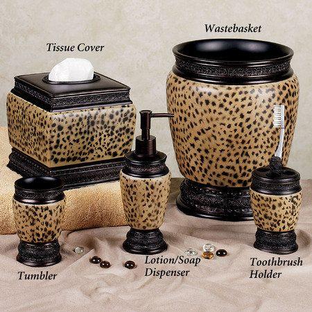 Cheetah+Bedroom | Dynasty Cheetah Bath Accessories | For ...