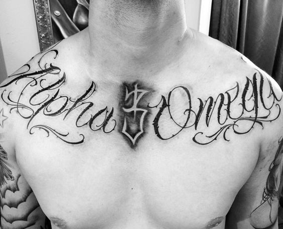 30 Alpha Omega Tattoo Designs For Men Greek Grandeur Collar Bone Tattoo Collar Bone Tattoo For Men Tattoos For Guys