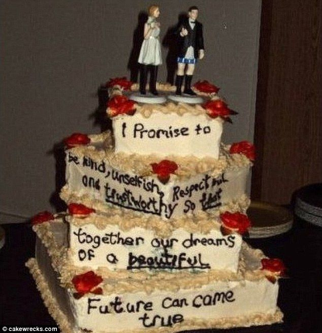 Awful Wedding Cake Photos Questionable Creations Prove Simplicity