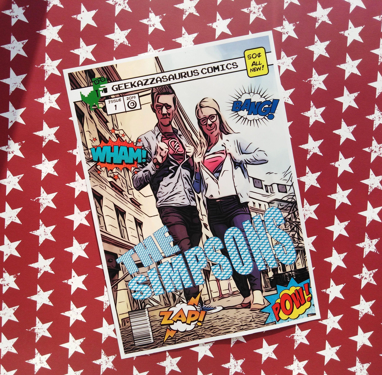 Personalised Comic Book PDF Print Superhero Personalised