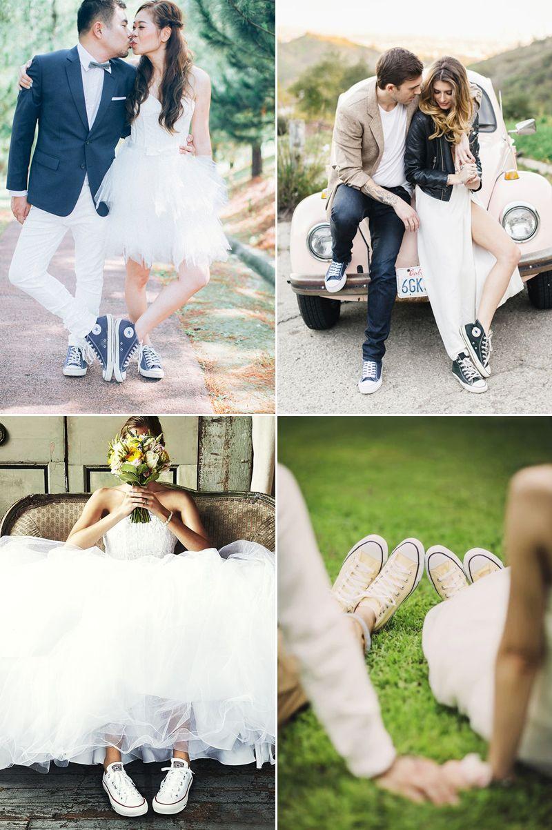 Bridal Sneaker Trend 6 Top Wedding Worthy Sneaker Brands That Make A Lifestyle Statement Praise Wedding Wedding Dress With Sneakers Wedding Dresses Wedding Converse [ 1203 x 800 Pixel ]