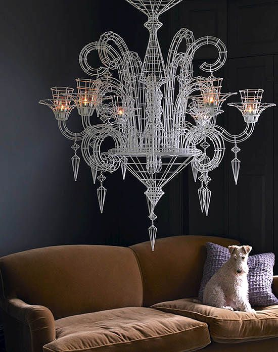 WOWWW....love this wire chandelier.