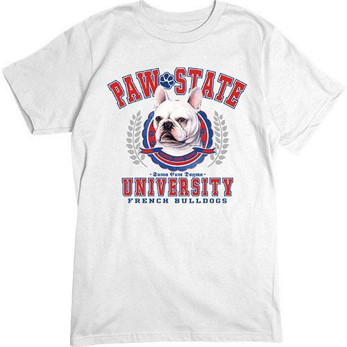[Basic Tee] - French Bulldog PSU   Our crew neck tee is made with 4.5 oz. 100% super soft combed ring-spun cotton and is preshrunk.