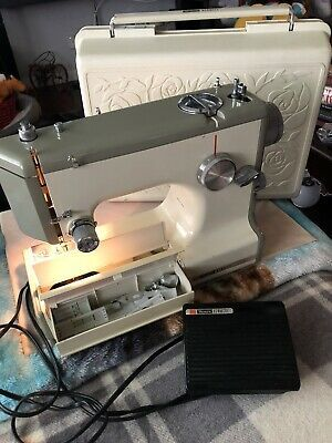 Vintage 1040 Sears Kenmore Portable Sewing Machine Rose Case Model 158-10400 | eBay