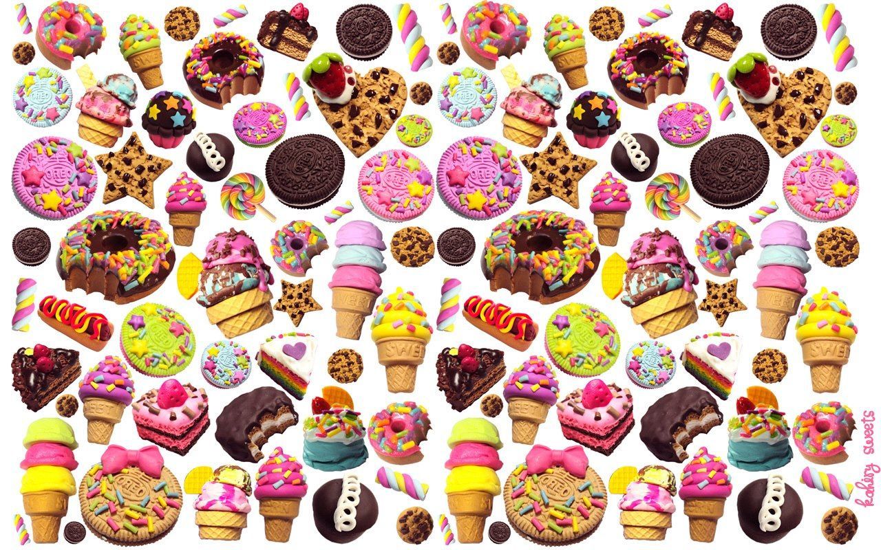Food pattern wallpaper tumblr tumblr mkr7rxtibg1r23cino1 - Kawaii food wallpaper ...