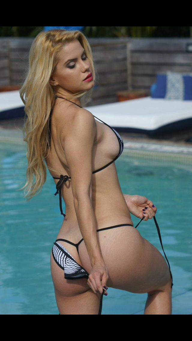 6581ee5d8 The White w/ Black Stripes Sexy Small Scrunch Butt Bikini Model Patricia  Perez @patricia_perez__ Hair and Makeup Abby Eden @stopandstarebeauty  Catalina ...