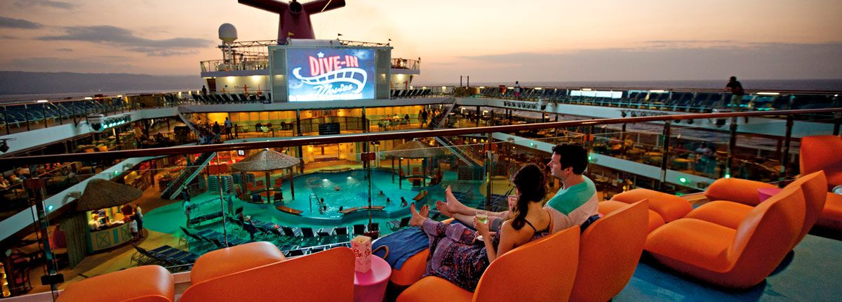 Dive in movies entertainment carnival cruise line - Dive in movie ...