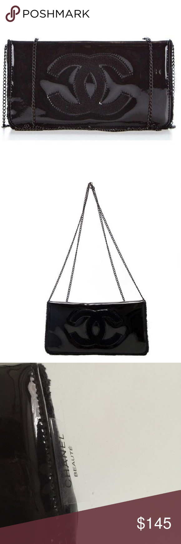 638386945b30 Chanel Beaute VIP Black Clutch/Crossbody/Cosmetic Authentic Chanel Beaute  VIP Gift With Purchase
