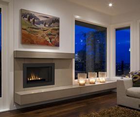 Low Profile Gas Insert Fireplace Basement Renovation