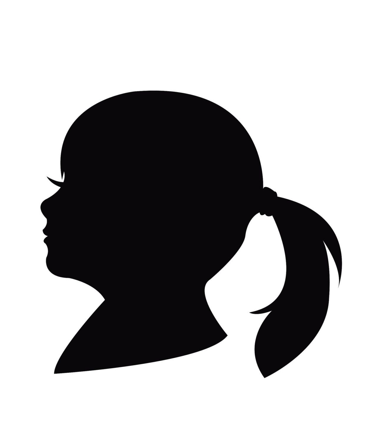 Woman Hair style Silhouette Royalty Free Vector Image  Face Profile Silhouette Blowing