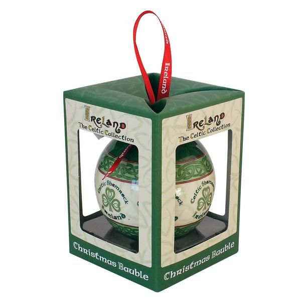 Shamrock Christmas Bauble - Celtic Collection | Irish ...