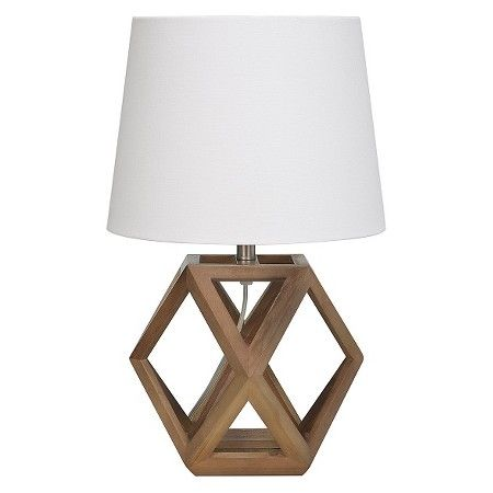Accent lamp geometric figural wood threshold target