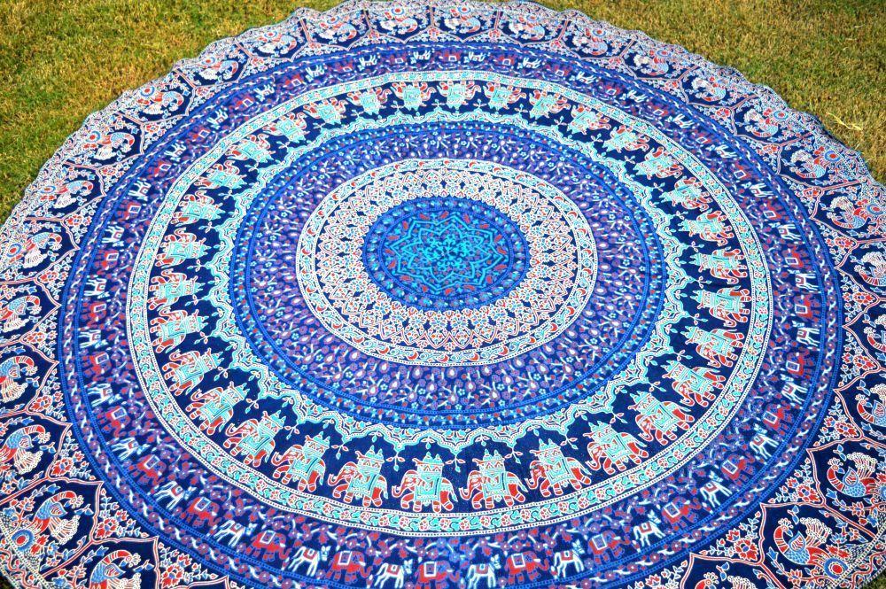 "Hippie Round Mandala 72/"" Tapestry Indian Wall Hanging Beach Throw Yoga Mat"