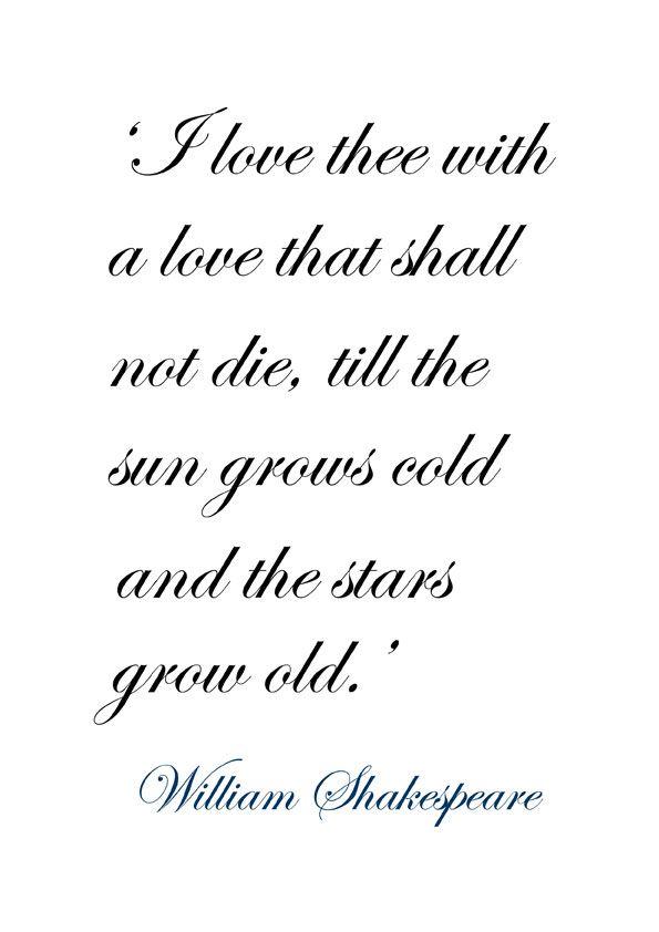 William Shakespeare Love Poems 6