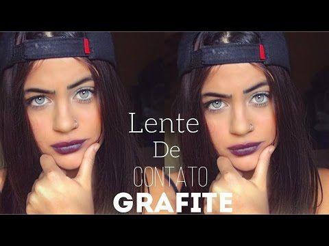 Lente de contato grafite hidrocor contact lens graphite - YouTube ... 2ce72fb966