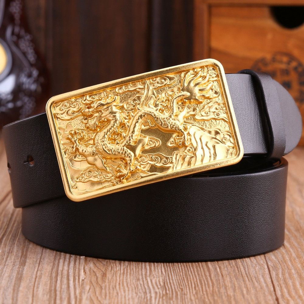 Belt Buckle  Gold Sack of Money with Genuine Leather Belt   Brand New