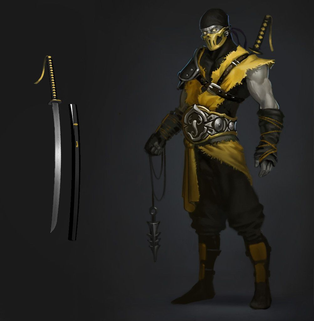 Artstation Scorpion Erik Diziron Mortal Kombat Art Mortal