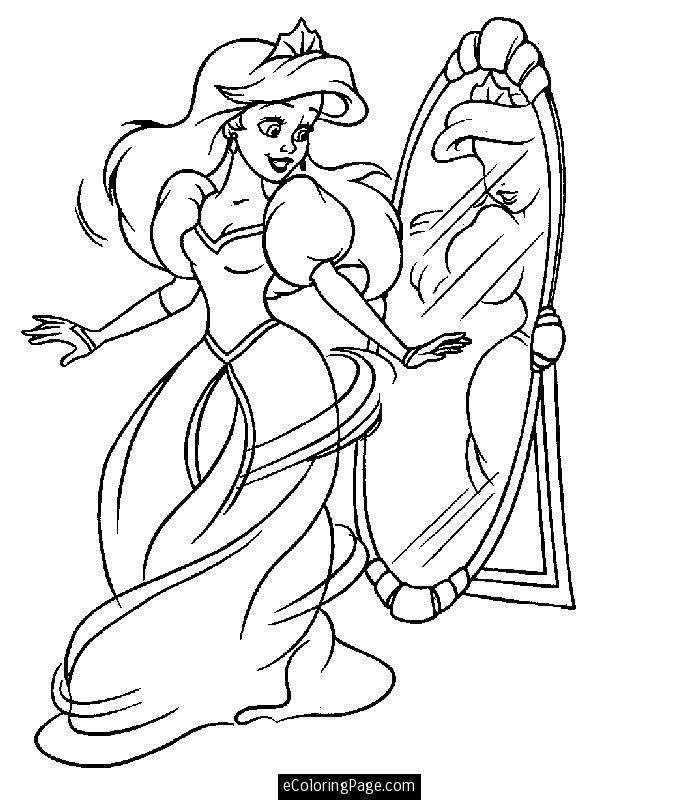 Princess Ariel Printable Coloring Page