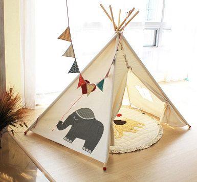 tipi d 39 l phant soabe tipi enfants jouer tente tente indienne tente tipi jouets enfants. Black Bedroom Furniture Sets. Home Design Ideas