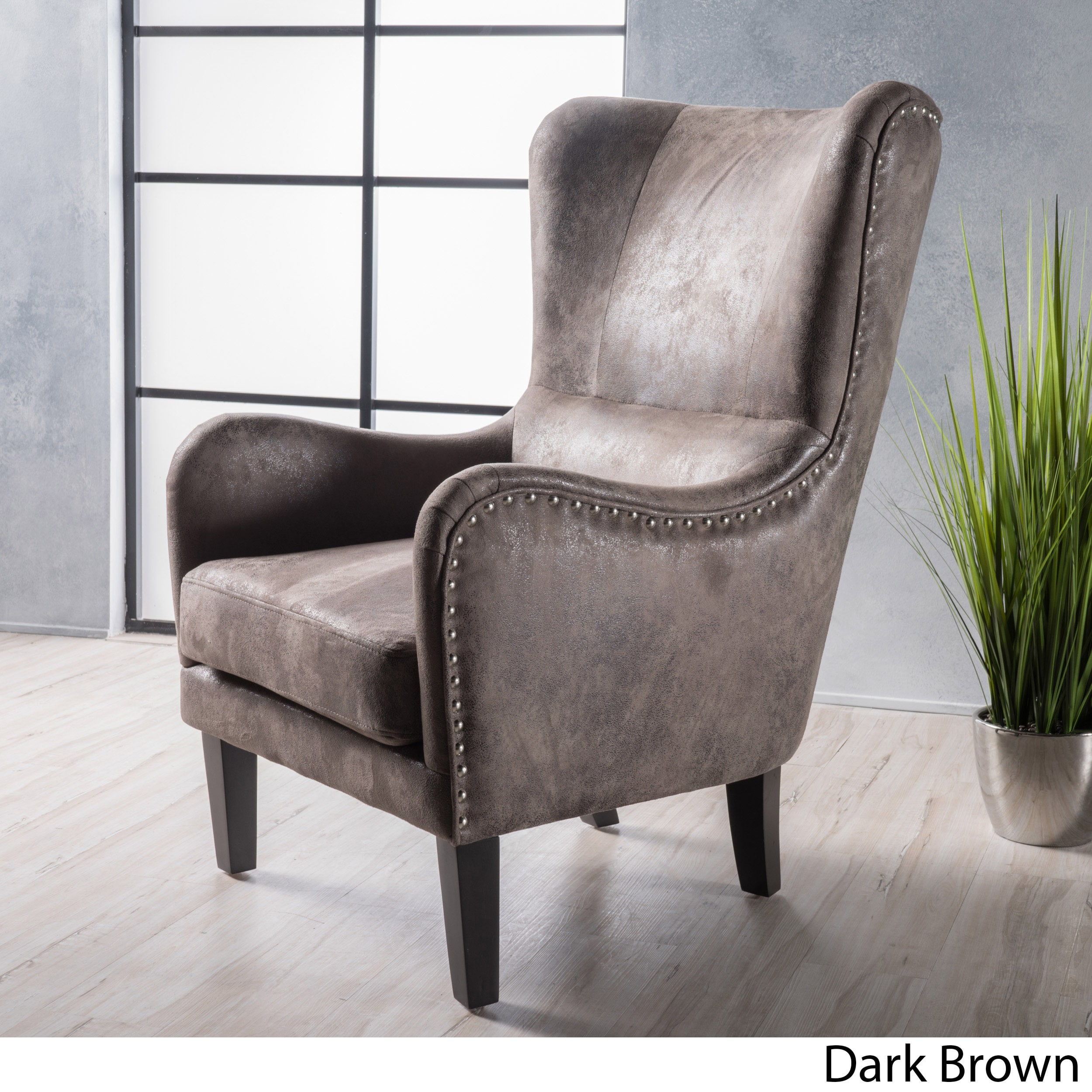 Pleasing Lorenzo High Back Studded Fabric Club Chair By Christopher Dailytribune Chair Design For Home Dailytribuneorg