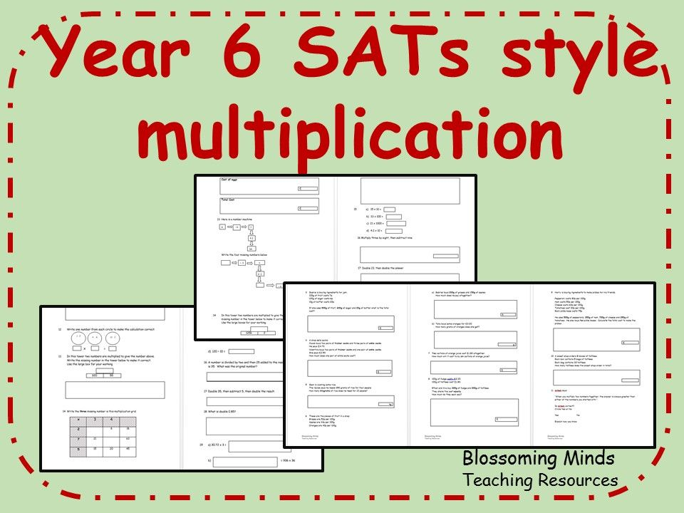 Ks2 Year 6 Sats Maths Multiplication Revision Teaching Resources Multiplication Multiplication Word Problems Word Problems