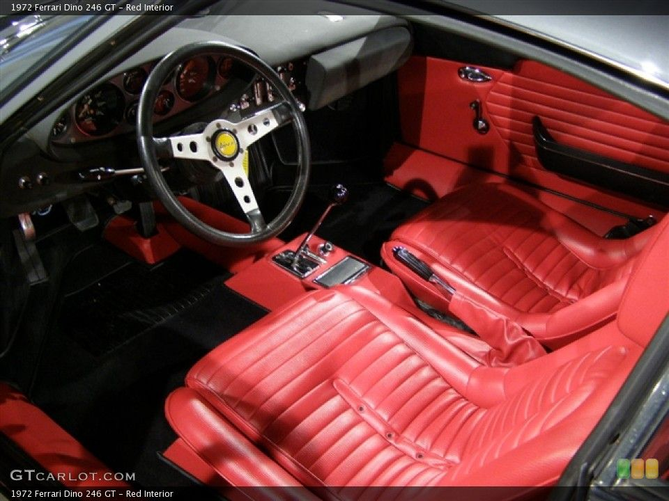 Red Interior Prime Interior For The 1972 Ferrari Dino 246 Gt