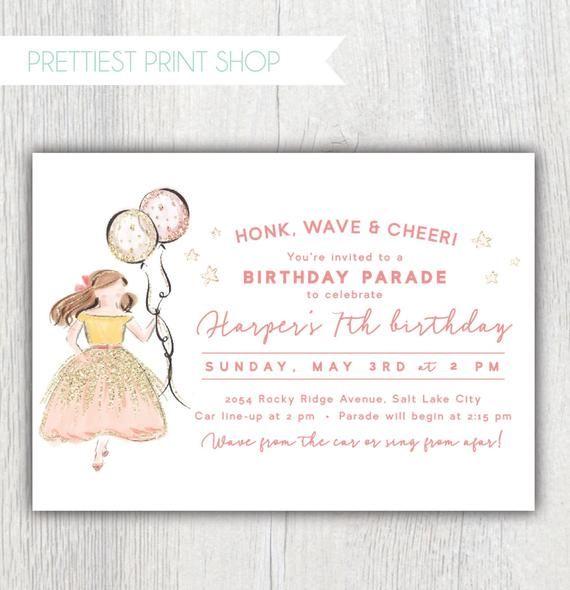 social distancing birthday invitation