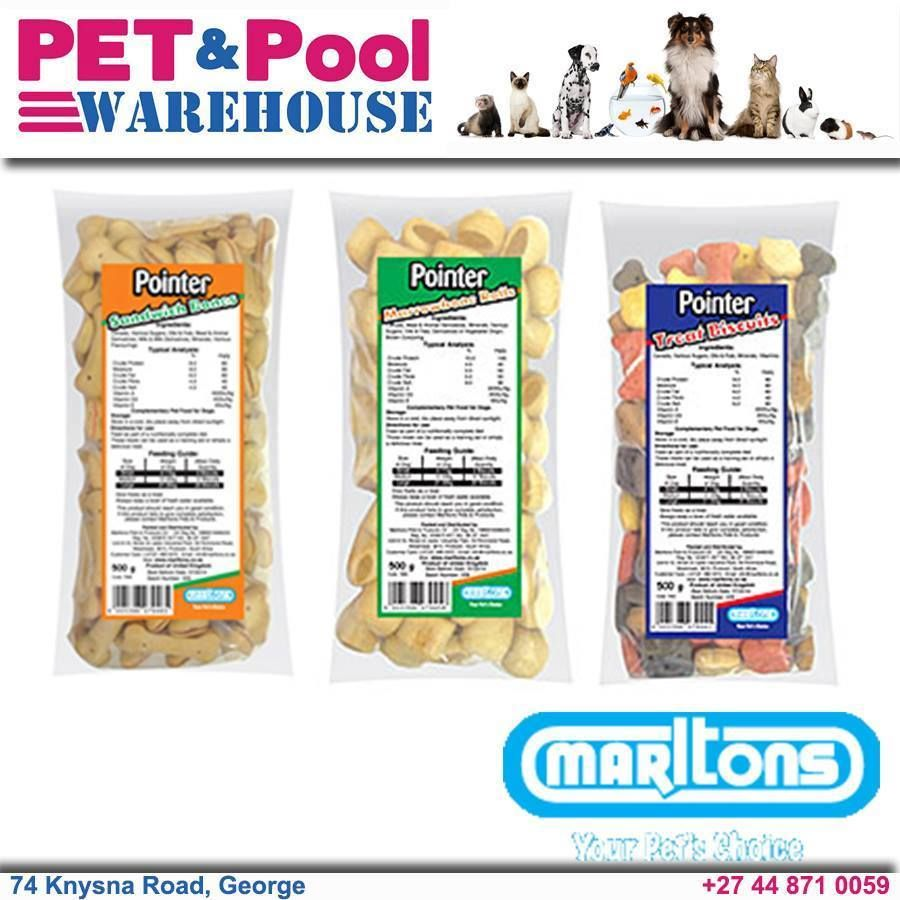 Marlton's Pointer dog biscuits - These yummy treats are perfect for rewarding your #dog for good behavior, or simply as a treat to show how much you care! Available from Pet & Pool Warehouse George. #lovedogs