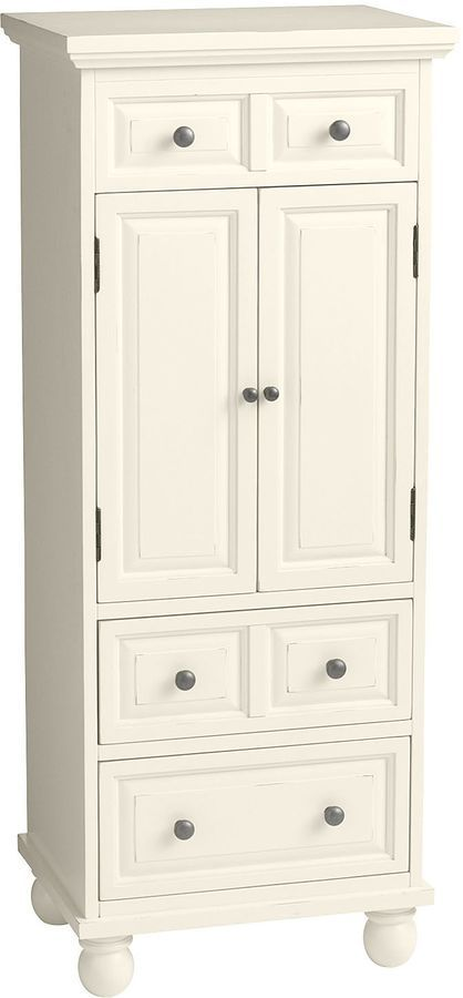 Pier 1 Imports Ashworth Antique White Jewelry Armoire Jewelry