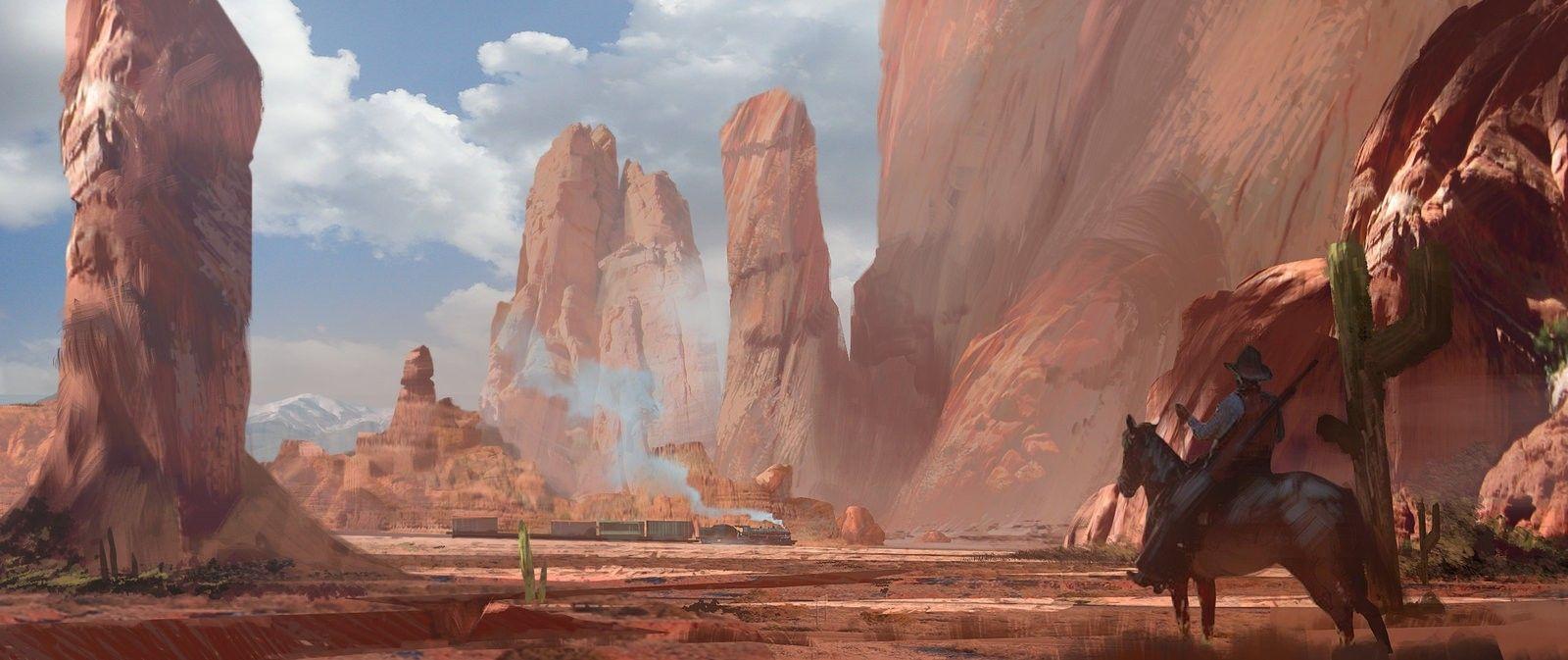 Landscape Red Dead Redemption Concept Art