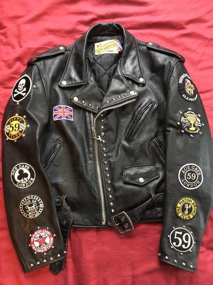 Schott Perfecto 618 Custom British Rockers Triumph Punk Rock Xl