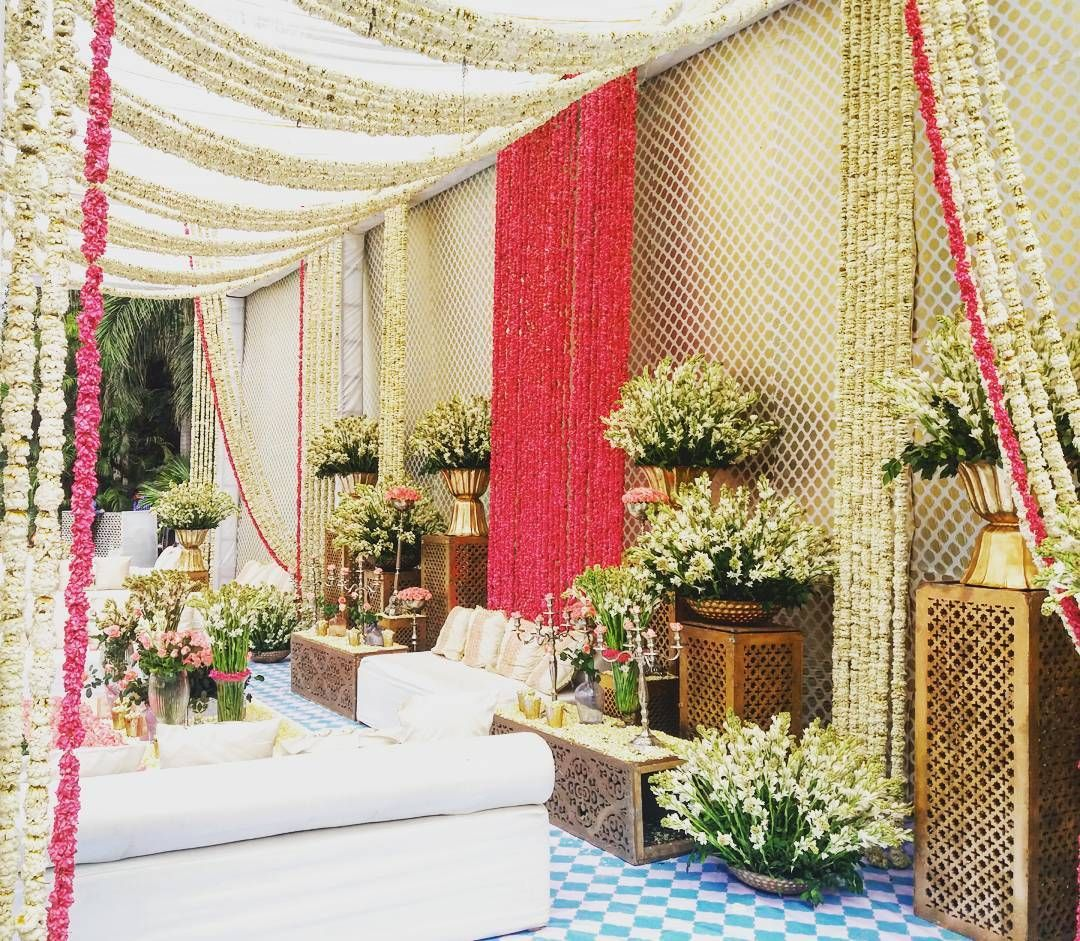 Wedding stage decoration ideas kerala  All white with pops of colour  floralparadise textures