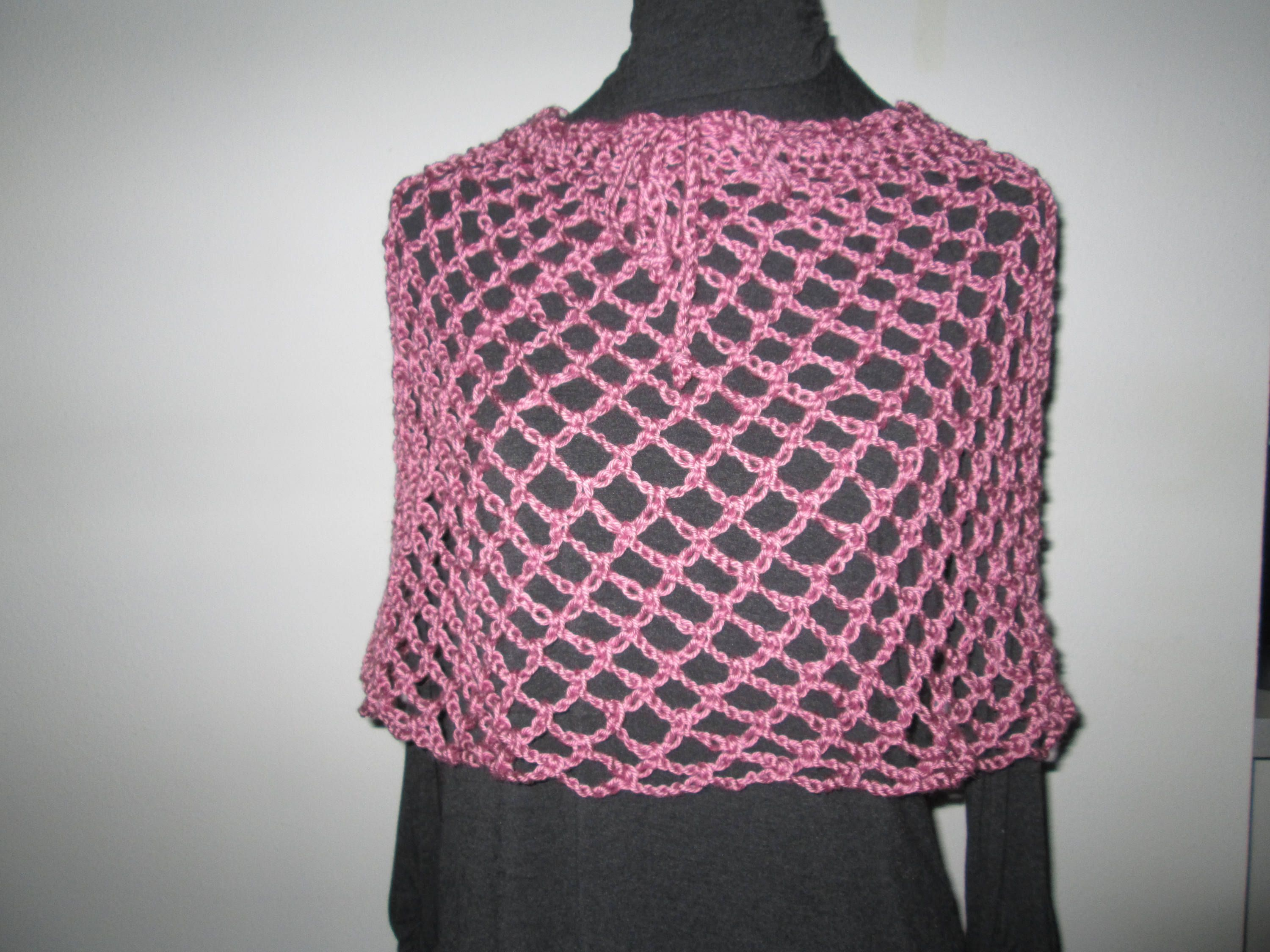 e8c411d7090c Girl s Dusty Rose Poncho Skirt Crocheted by SuzannesStitches