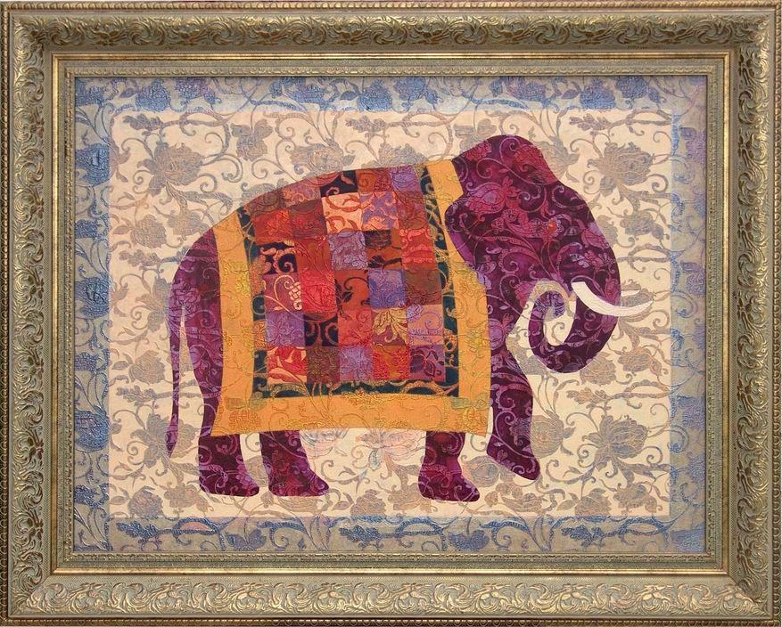Elephant [Art Deco-A4094] - $500.00 painting by oilpaintingsartmaker.com