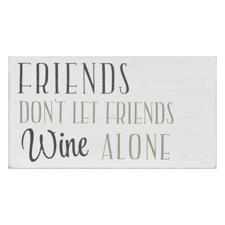 Stratton home decor ufriends donut let friends wine aloneu box wall