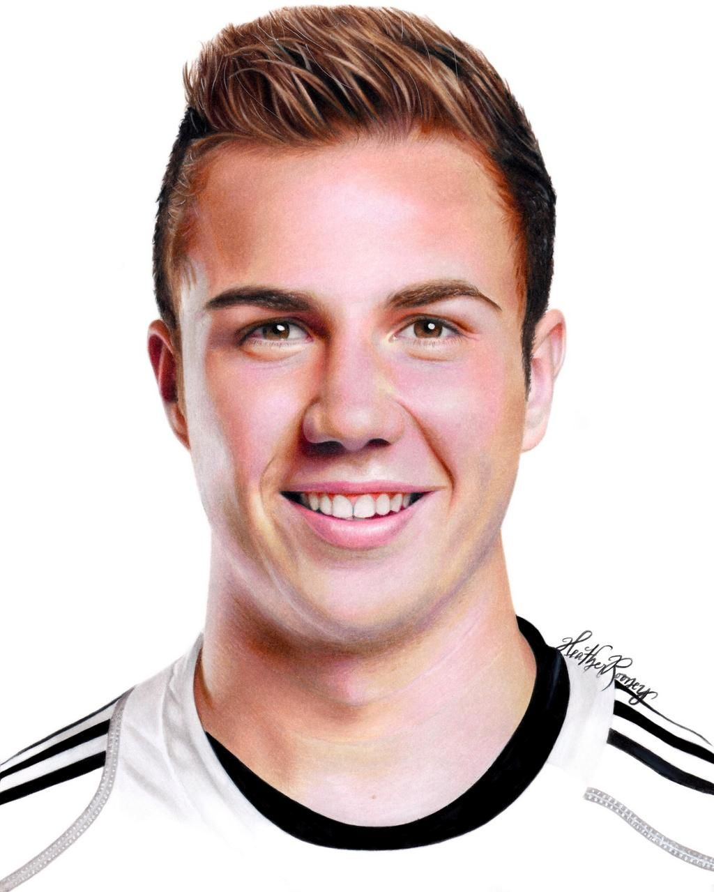 Colored pencil drawing of Mario Gotze Mario Gotze