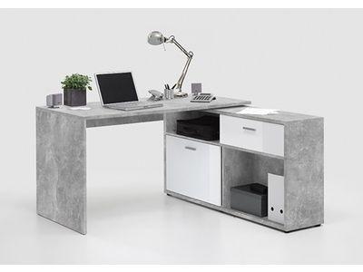 Meuble informatique bureau bureaux en métal bois verre pas