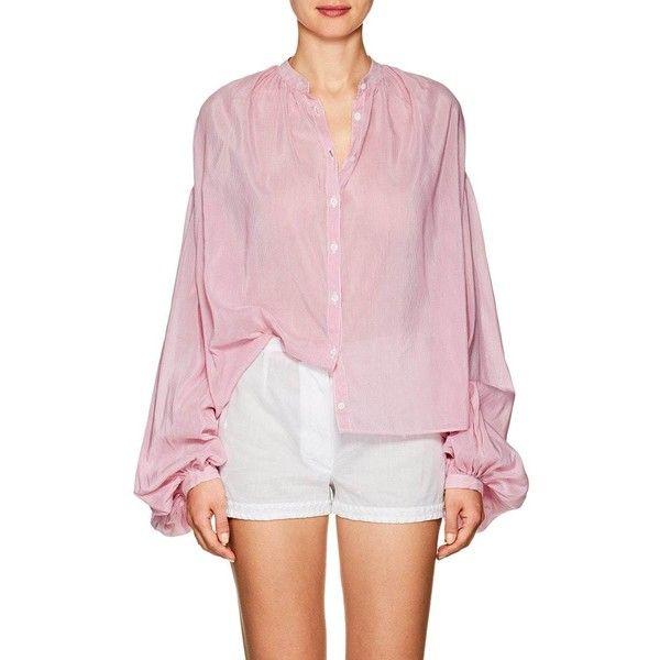 Womens Slava Striped Cotton-Silk Blouse Thierry Colson Cheap Outlet kxJHRDZqP