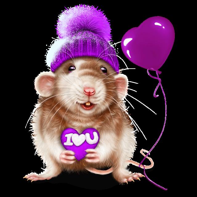 Картинка новогодняя мышка