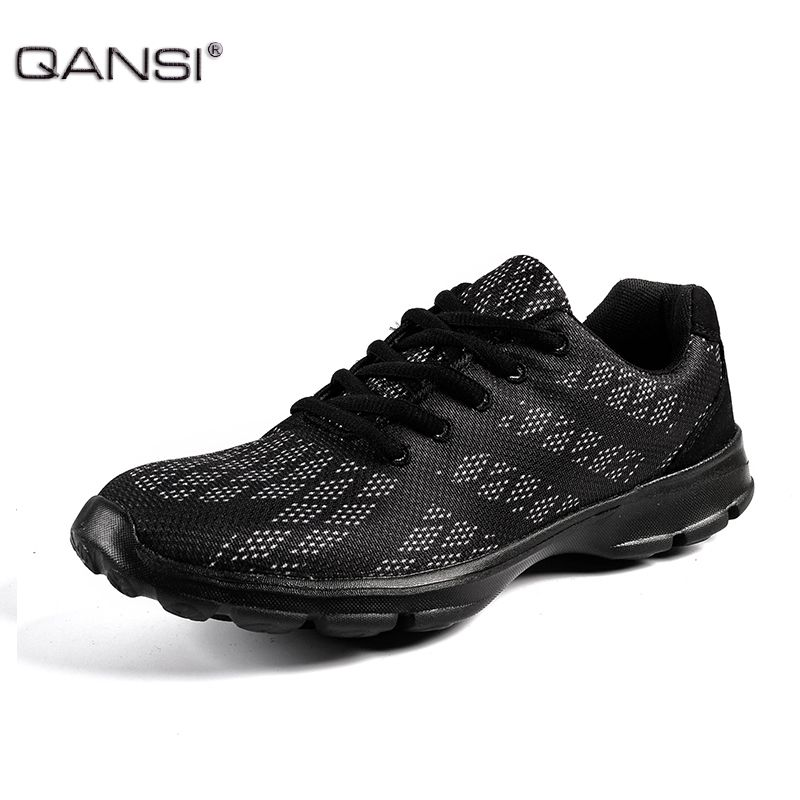 de9c2c09b0aeb8 QANSI New Gradually Changing Color Men Running Shoes Spring Autumn  Breathable Shoes Outdoor Sport Black Sneakers