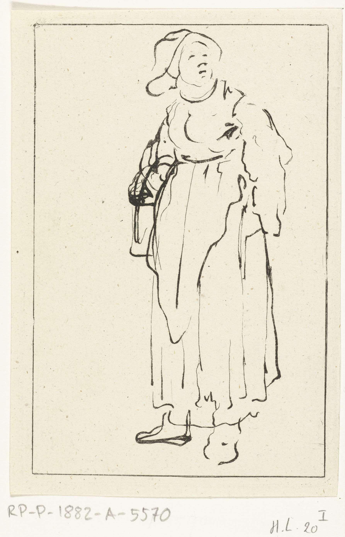 Ernst Willem Jan Bagelaar | Staande boerin, Ernst Willem Jan Bagelaar, Jozua Breckerveld, 1798 - 1837 |