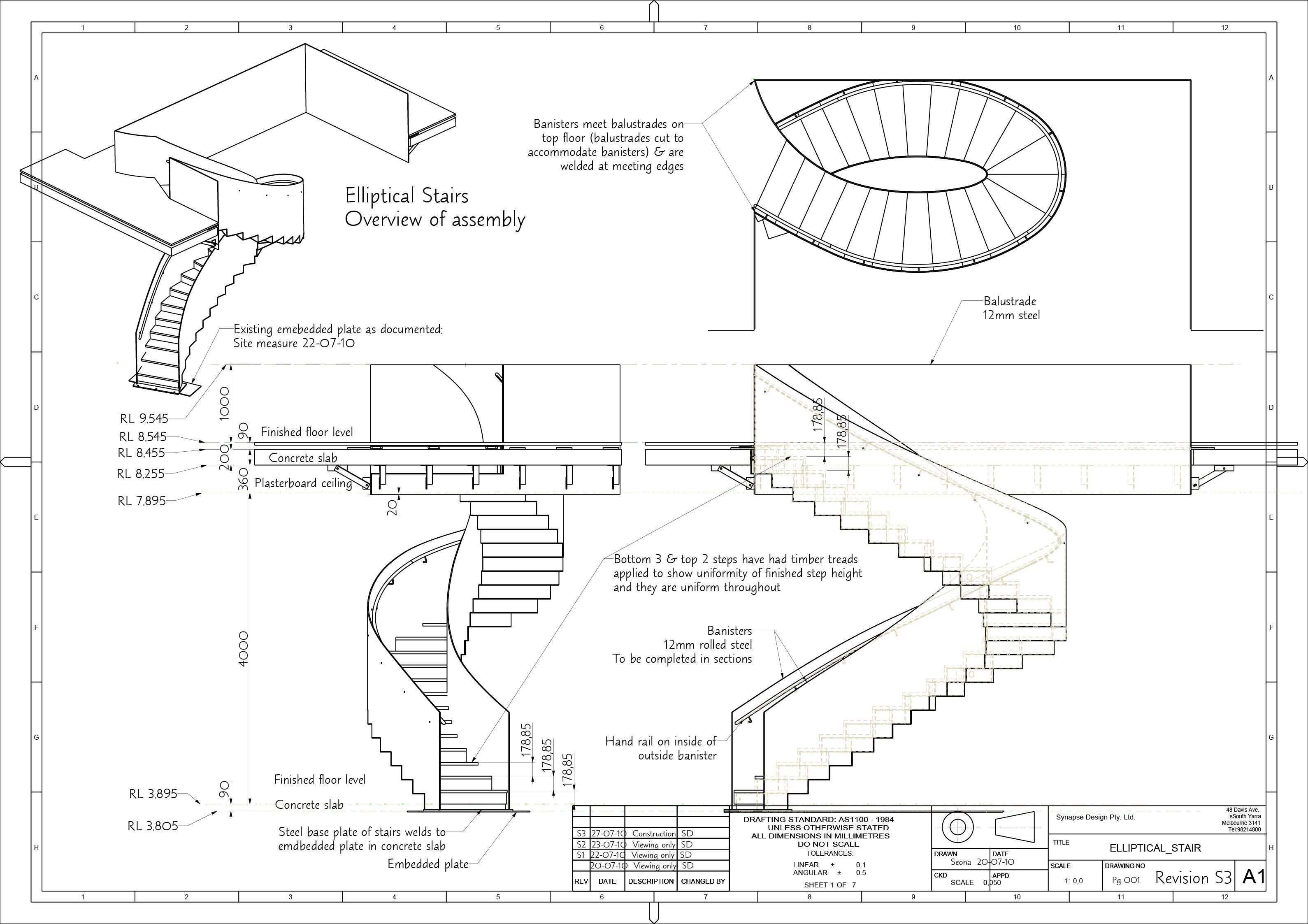 Elliptical Stairs Page 1 Jpg 3179 2246 Stair Dimensions Spiral Staircase Plan Floor Plans