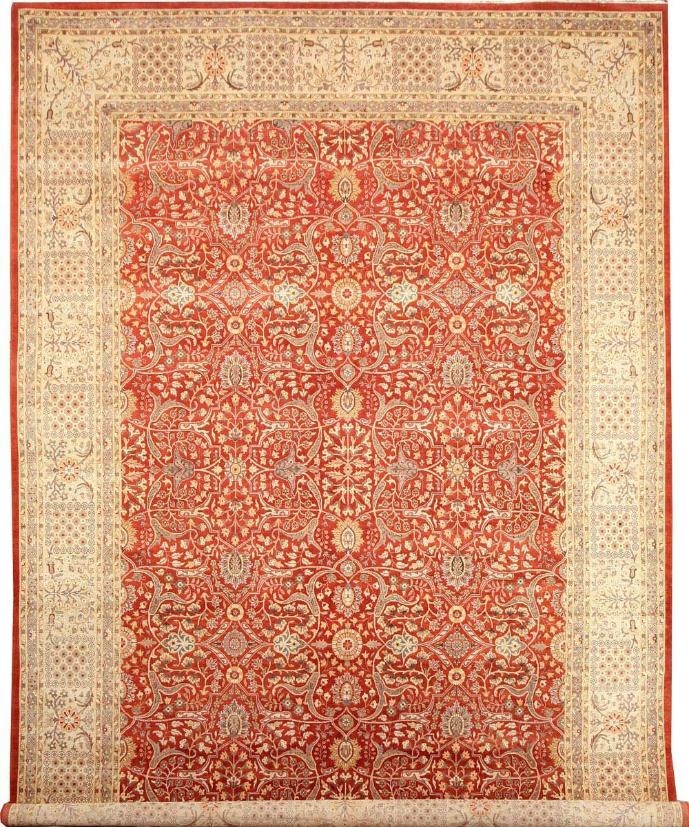 Fine Quality Double Knot Sultanabad Rug With Silk Base