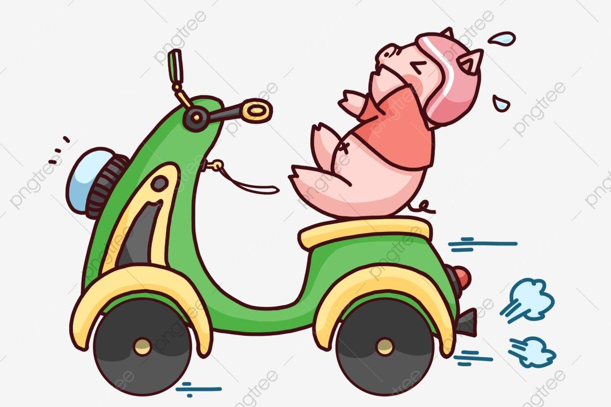 Cartoon Cute Pig Cute Pig Riding Motorcycle Transportation Cartoon Transportation คล ปหม การ ต นหม น าร ก หม น าร กข มอเตอร ไซค ภาพ Png และ Psd สำหร บดาวน ในป 2021