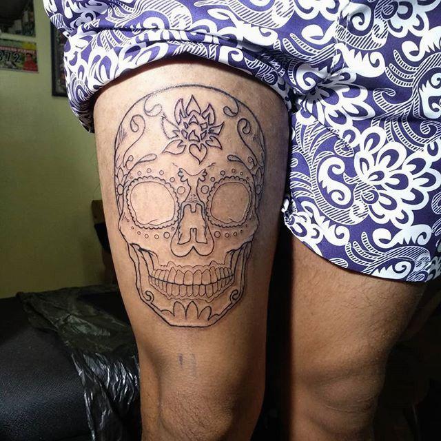 Photo of 31 Zuckerschädel Halbarm Tattoo