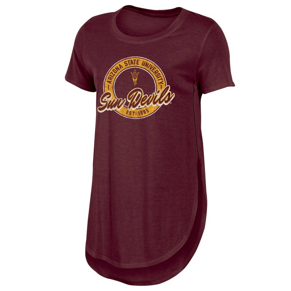 ed141801242 Arizona State Sun Devils Women s Heathered Crew Neck Tunic T-Shirt - M  Color  Multicolored. Gender  Female. Age Group  Adult. Pattern  Solid.
