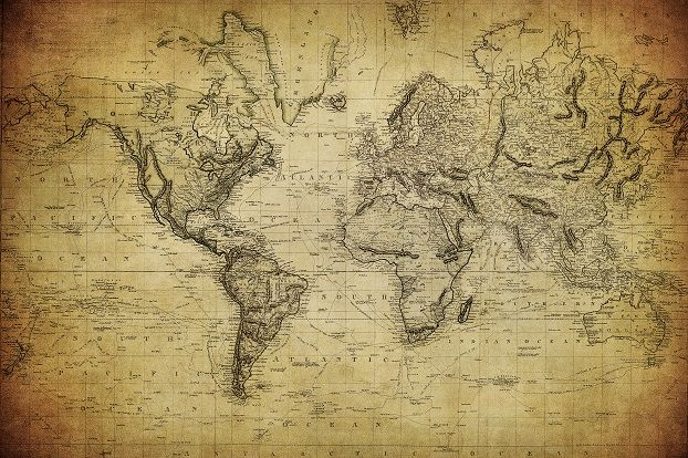 Ye Olde Map - Wallpaper Ink | Home | World map mural, World map